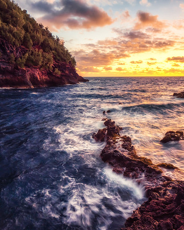 Red Rocks In Maui