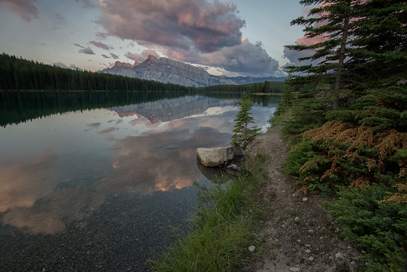Two Jack Lake Reflection