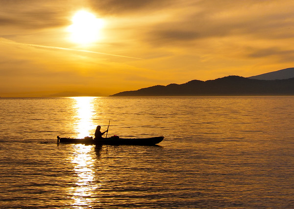 Sunset Sea Kayaker
