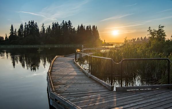 Astotin Lake Sunset