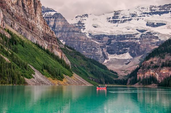 Lake Louise Canoe