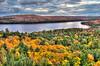 Rock Lake in Fall