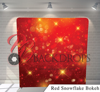 Red Snowflake Bokeh Tension