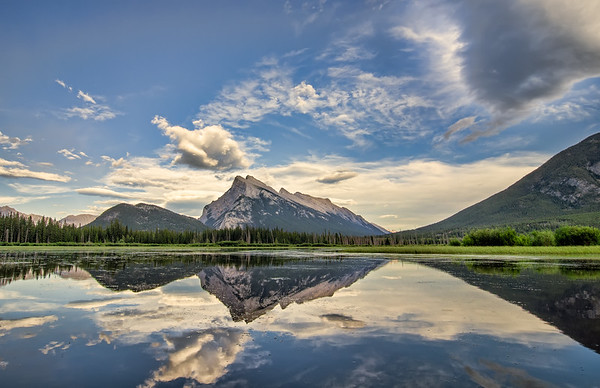 Vermilion Lakes Perfect Reflection