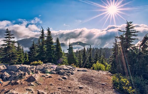 Mountain Top Sun Star