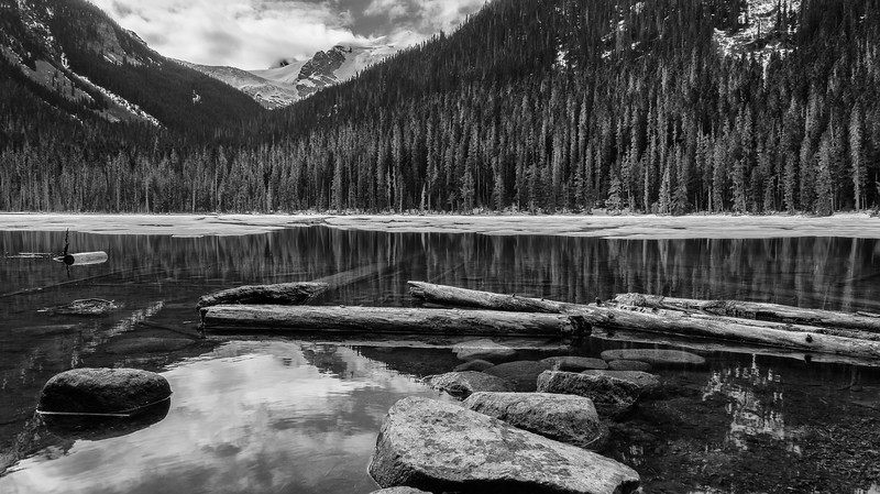 Lower Joffre Lake Black and White