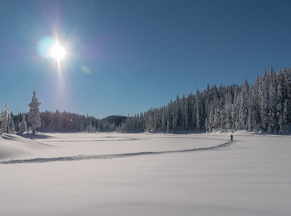 Battleship Lake Snowshoeing