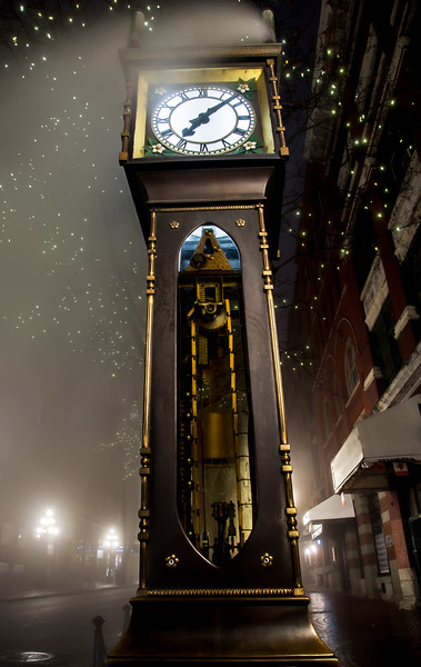 Tall Vancouver Steam Clock