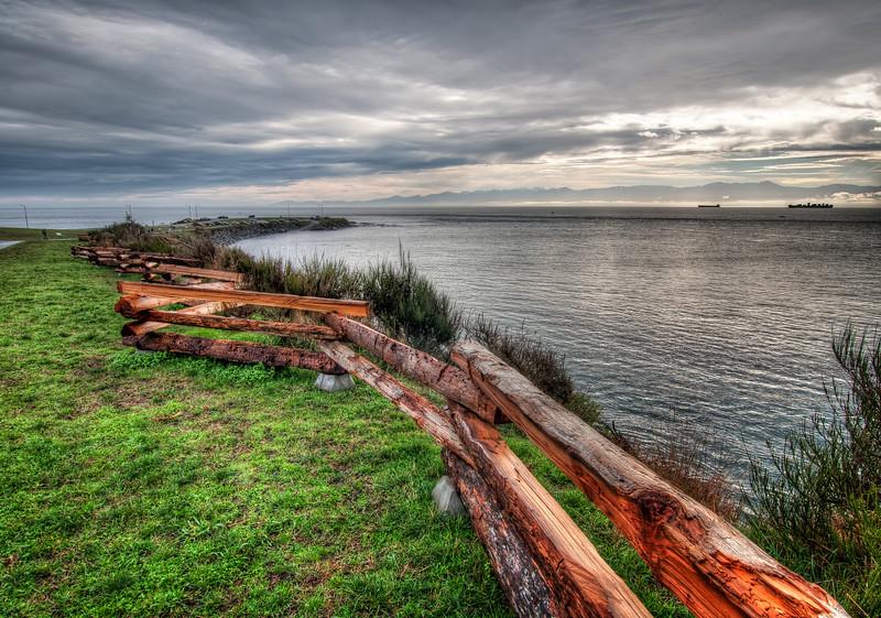Clover Point Wood Barricade