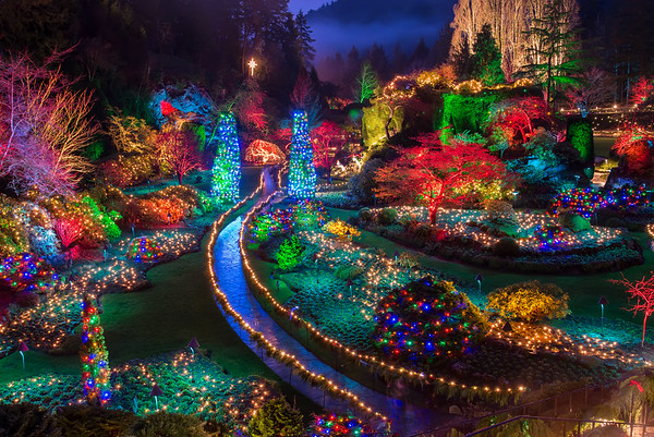 Buchart Gardens Christmas Lights