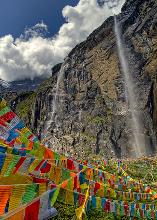 Meili Mountain Sacred Waterfall