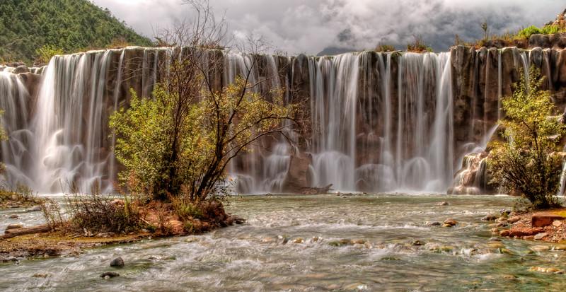 Flowing Mountain Waterfall