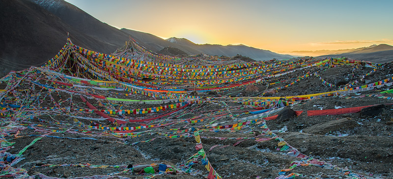 Tibetan Flag Sunrise