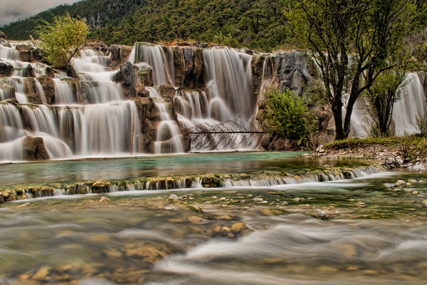 Yulong Snow Mountain Waterfall