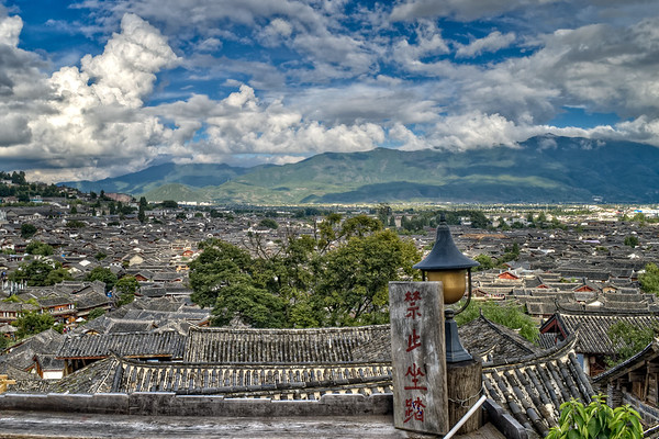 View of Lijiang old town