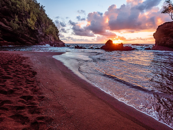 Red Sand Beach Sunrise