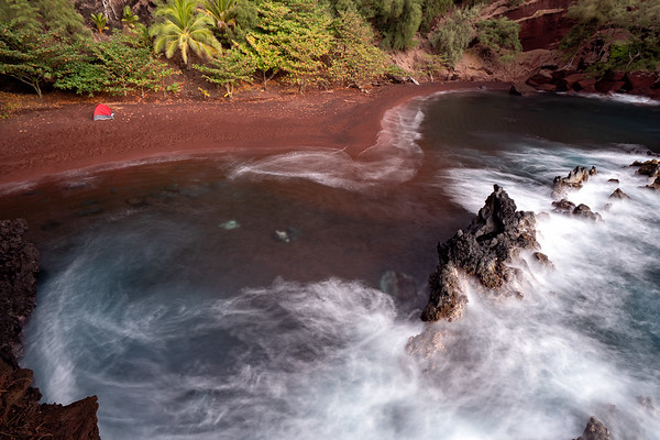 Red Sand Beach in Hana