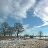 First snow and winter sky