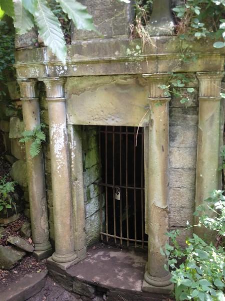 Sculpture park vault door