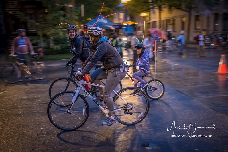 tour de nuit vélo, parc Lafontaine Montréal