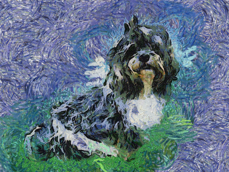 Portrait of Baldwin as Painted by van Gogh