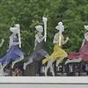 Running women at Beijing Olympic stadium