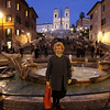 Barbara at Spanish steps always crowded
