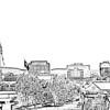 Huntsville_skyline_B-W-lines