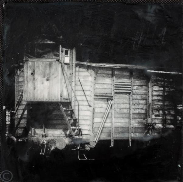 Auschwitz; train car.