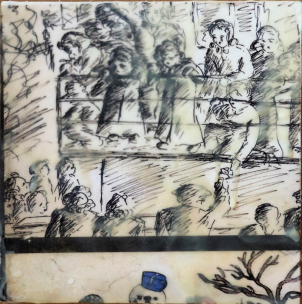 Terezin; drawings by children. Friedl Dicker-Brandeis, an imprisoned artist, secretly taught the children how to draw. Thousands of such drawings, and those by adult artists, were subsequently recovered after Terezin's liberation.
