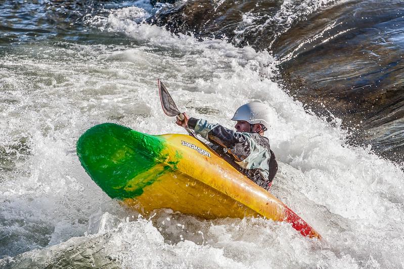 kayak on the Truckee