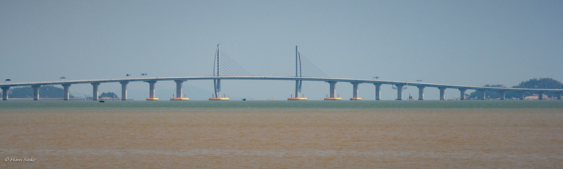Part of the 39km Hong Kong–Zhuhai–Macau Bridge (HKZMB), soon to be opened.