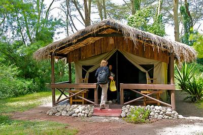 Arriving at Migunga Tented Camp