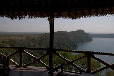 View form balcony of restaurant at Lake Chala Safari Camp