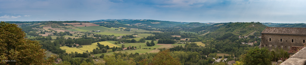 View from Cordes-sur-Ciel (including our holiday home!).