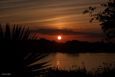 Sunset at Selous Jimbiza Camp 2