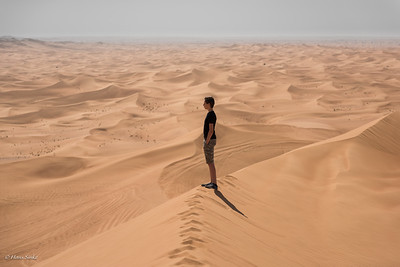 Alone in his desert