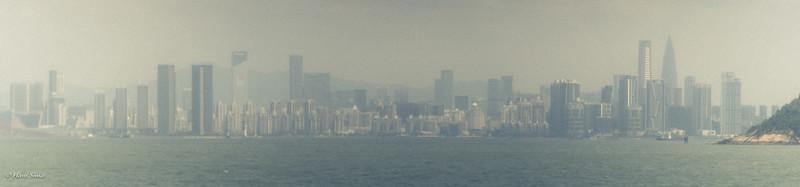 Skyline Shenzhen (as seen from entrance Shenzhen Bay)