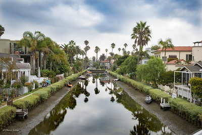 Visiting the Venice Canals.