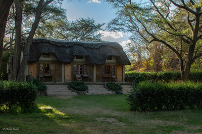 """Our """"cabin"""" at Rivervalley Campsite. It's to far to drive from Dar-Es-Salaam to Ruaha in one day so this is our pitstop for the night."""