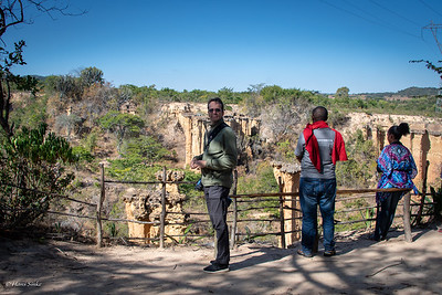 Enjoying the view at Ismila Stone Age Site. Behind me our driver and a local guide.