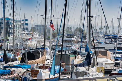 Overlooking Marina del Ray, Basin A