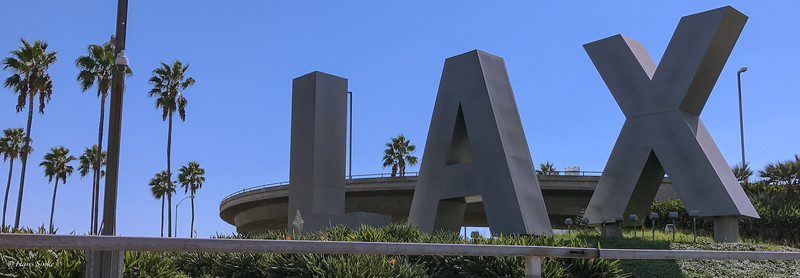 """The famous LA airport sign. Correct the """"X"""" actually has no meaning."""