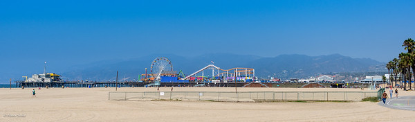 Cycling to Santa Monica Pier