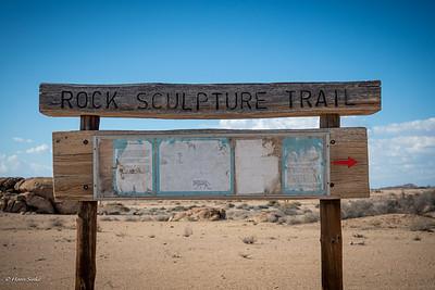 Rock sculpture trail