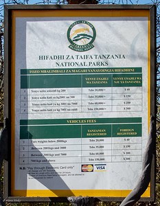 Rules & Fees Ruaha