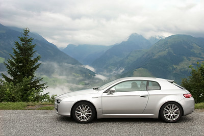 Alfa Romeo Brera Skyview in the Alps