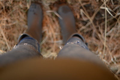 ripped jeans & muddy boots
