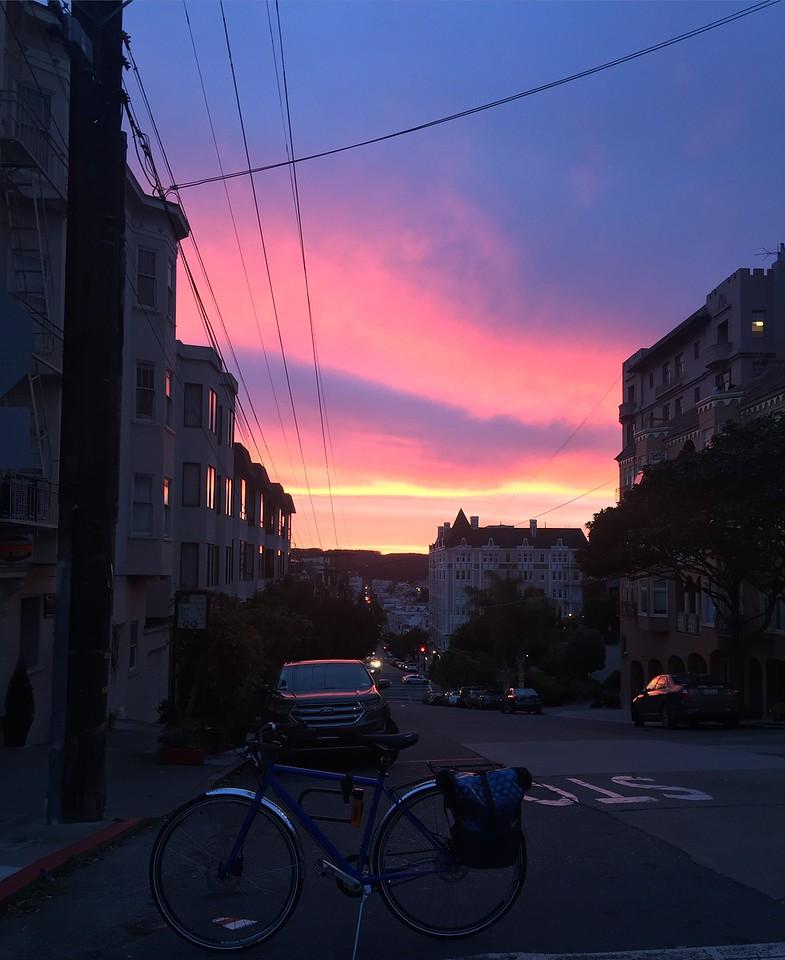 Russian Hill Sunset