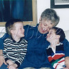 "<b>True love  GG and the boys saying goodbye at the end of a Phoenix visit—possibly 1998</b>  Last week, we lost Granny the Great (Shirley Daniels Marks, 26 November 1925–23 May 2013). I'm heartbroken. I'll miss hearing her voice during our weekly calls, and reading her weekly letters (hearing her voice in my head). I'll miss writing to her, in return. Granny was a blessing in my life—probably the biggest single influence on who I am today. Between us, my guys and I have several lifetimes' worth of wonderful memories to comfort us, and these will serve to carry on her legacy.  Tom often teases me because I say so many ""Granny"" things. I've never minded; but, I especially won't mind now—she's clearly with me always. Many of my friends have heard Granny-isms like, ""If you don't like the weather in Chicago, wait a minute,"" and ""We belong to a mutual admiration society,"" (from an old song she sang to me often).  Once Granny made a friend, that person was a friend for life. Starting when I was a little girl, Granny and I would trek to the suburbs (the ends of the earth from Hyde Park, in a child's eyes) to have lunch or dinner with girlfriends of hers. Sometimes, we'd go shopping or apple picking, too. Always, I'd hear stories about their school days, their childrearing years, their grandchildren—everything. Now, I have girlfriends like that, too—the women who know everything about me (and love me anyway), who share family triumphs and tribulations, who don't hesitate for a second when help is needed. These ladies love Granny—whether or not they ever met her in-person—because they know her essence through me.  This scanned photograph shows how Granny/GG made us feel every time we were together (in-person, on the phone, and in letters). I'd venture a guess that this is how we'll feel every time we think of her for the rest of our lives."